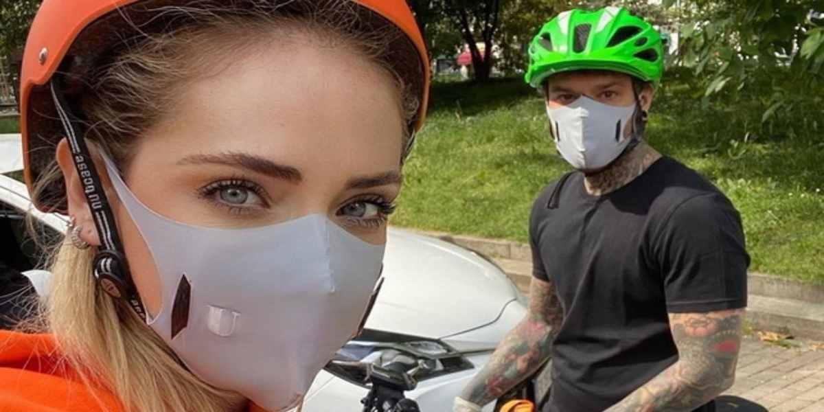 U-Mask indossata da Chiara Ferragni e Fedez