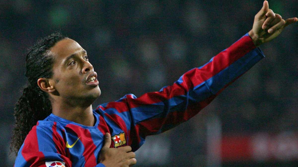 Ronaldinho ai tempi del Barcelona