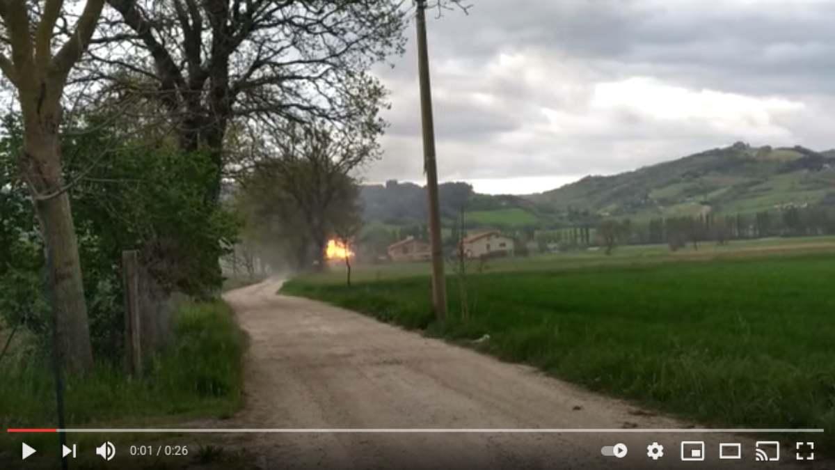 esplosione Gubbio