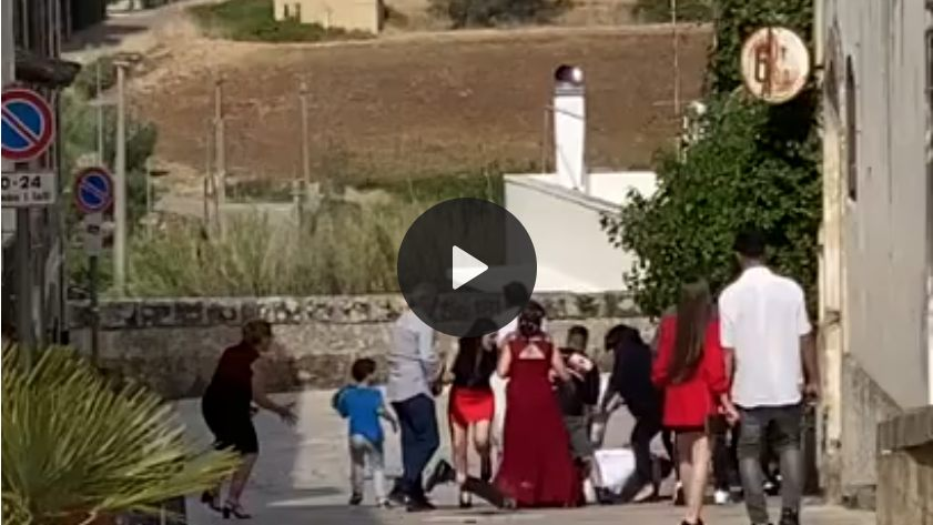 il video della rissa matrimonio lecce