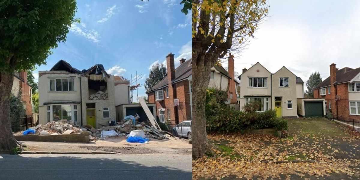 casa demolita a Leicester