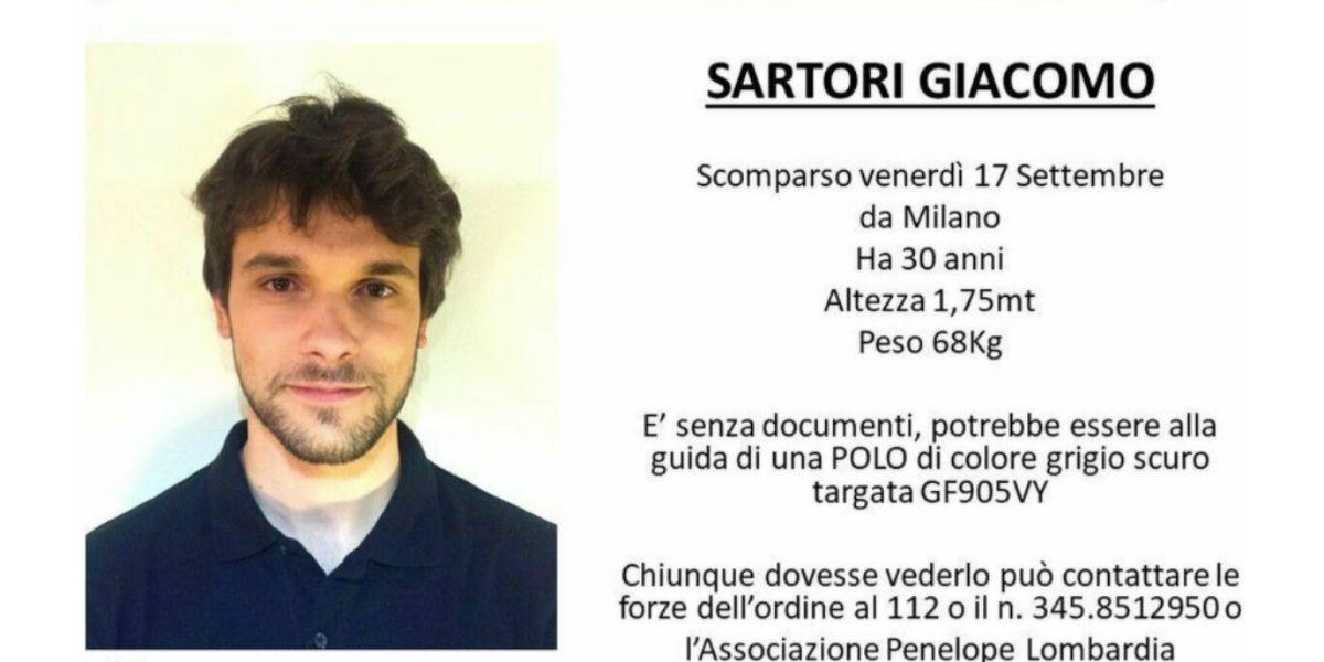 È scomparso da Milano Giacomo Sartori